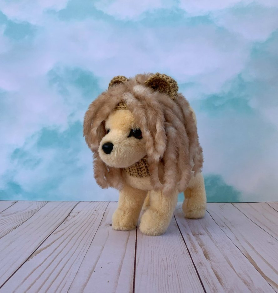 If you took a Walk on Your Wild Side, you'd definitely see a crocheted lion hat.