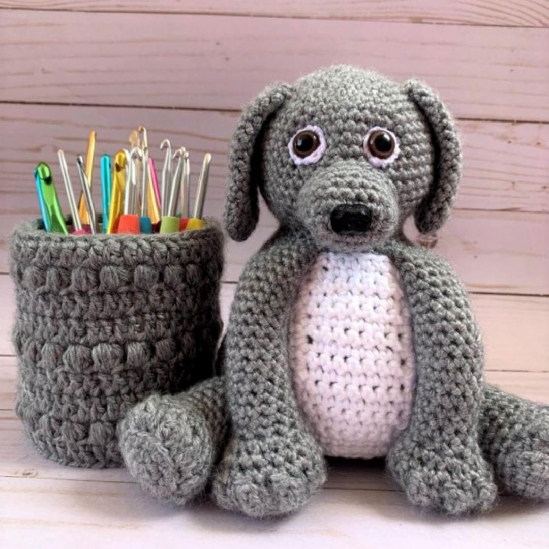Amigurumi Dog and Plant Cozy Crochet Pattern