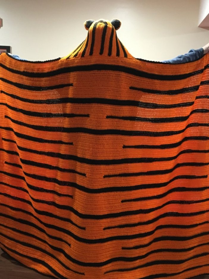 Hooded Tiger Blanket Crochet Pattern